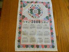 L-21 Vintage 2000 Cotton Calendar Towel Home Sweet Home