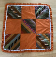Vintage Fall Autumn Patch Necktie Table Cover 41 X 41 Square