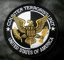 Usa Counter Terrorism Embroidered 3.5 Inch Hook Patch