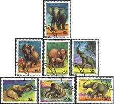 tanzanie 1014-1020 oblitéré 1991 éléphants