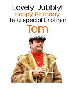 PERSONALISED GREETINGS CARD BIRTHDAY PARTY ONLY FOOLS AND HORSES DELBOY GRANDAD