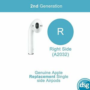 Genuine Apple Airpods 2nd Generation Replacement Airpod - Right Ear Only A2032