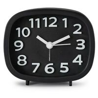 Non Ticking Alarm Clock, Battery Powered Bedside Clock Silent Simple to Set B8N6