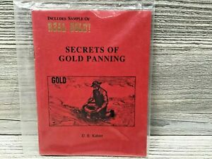 New Vintage Secrets of Gold Panning Book by D.E. Kahler w/ Sample of Real Gold