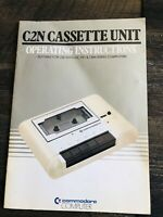 Commodore C2N Cassette Unit Operating Instructions MANUAL ONLY VIC PET CBM Serie