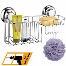Bathroom Shower Rack Shelf Basket Stainless Steel Shower Caddy/Organiser suction