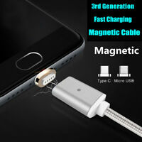 New Magnetic Adapter USB-C Type C Male Charger Cable For Samsung Galaxy S8 Plus