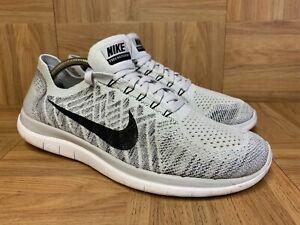 RARE🔥 Nike Free 4.0 Flyknit RN White Black Oreo Running Shoes 717075-005 Sz 10