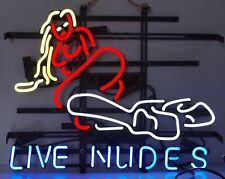"""New Live Nudes Dance Beer Bar Pub Lamp Neon Sign 24""""x20"""""""