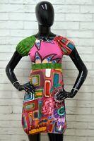Vestito Donna DESIGUAL Taglia Size XS Dress Abito Tubino Woman Corto Multicolore