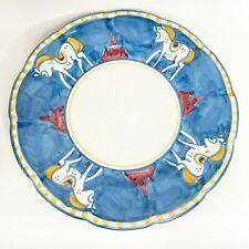 """Solimene Vietri Cavello Horse Pattern 11.5"""" Diameter Dinner Plate"""