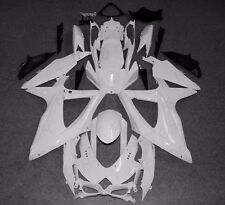 ABS Bodywork Fairing kit For Suzuki GSXR 600 750 2008-2010 2009 Unpainted white