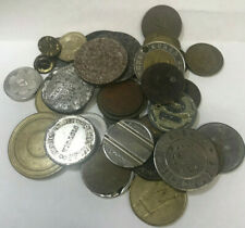 World Lot Of Over 35 .Tokens, Pins, And Other Items Great Variety