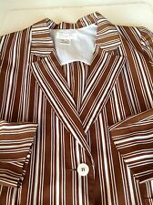 Christan Dior Separates Rayon  Blazer Jacket Stripes 10 Designer Fashion Chic