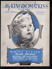 My Kingdom for A Kiss 1936 Hearts Divided Marion Davies Dick Powell Sheet Music