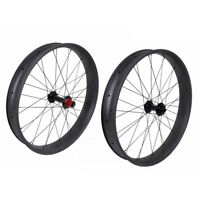26er Fat  Wheelset Chosen hub Carbon Clincher Axle Thru 80mm UD Matt 150 197mm