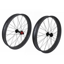 Chosen 26er Fat bike Wheelset Carbon Clincher Axle Thru 80mm UD Matt 150 197mm