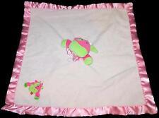 Blankets  Beyond Pink Green Cow Fleece Lovey Baby Security Blanket