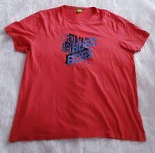 Hugo boss ropa deportiva Coral Rosa Para Hombres Camiseta Talla 3XL Casual de Algodón logotipo