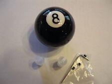 Cool BLACK METAL FLAKE Sparkle # 8 Pool Que Ball Shift Knob