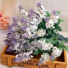 Artificial Fake Flower Bush Bouquet Home Wedding Decor White