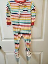 Carters Long Sleeve Footed Pajamas 24 Mths