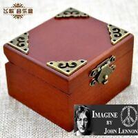 IMAGINE @ JOHN LENNON SANKYO TRANSPARENT BLACK  MUSIC BOX