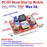 3A DC-DC Boost Step-up Converter Voltage Regulator 5V-35V to 9V 12V 24V 36V 48V