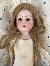 """Antique Armand Marseille 370 AM 1 DEP Bisque Doll 20"""" Sleepy Eyes Blonde Hair"""