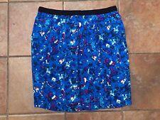 BODEN Blue Floaty Summer Splatter Print Smart Casual Skirt Size 16R   b462