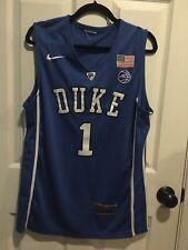 Zion Williamson Duke Blue Devils Sewn Basketball Jersey Size Medium