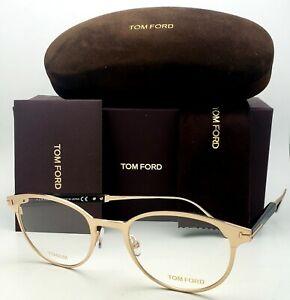 New TOM FORD Classic Eyeglasses TF 5482 028 50-21 Gold &Tortoise Titanium Frames