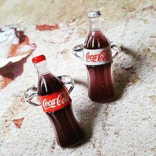 Coca Cola Único Anillo Mezclado Dolly Botella De Coca Cola Ajustable Retro Diet Coke Cool