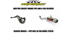PRO CIRCUIT FULL EXHAUST WORKS PIPE + R304 SHORTY SILENCER 2002 YAMAHA YZ250
