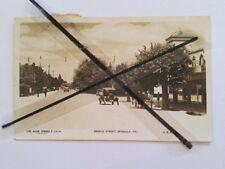 Antique vintage old photo postcard Bridge St Benalla Vic Australian Stamps