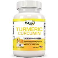 Turmeric Powder Capsules Contains Curcumin Extracted Anti-Inflammatory 60capsule