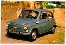 Cartolina Fotografica FIAT 600 Elaborazione Abarth 1000 Presso Officina Luigi De