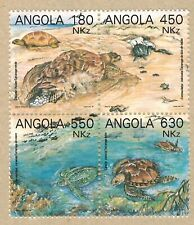 Angola 1993 - Turtles - complete set MNH in block