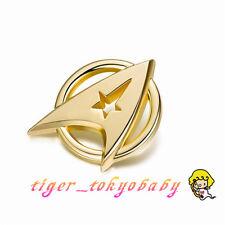 Star Trek:Beyond Gold Plated Starfleet Communicator Brooch Badge Lapel Pin props