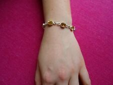 Citrine Gemstone Handmade Bracelet set in 925 Sterling Silver