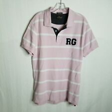 Rodd & Gunn Mens Pink White Striped Sports Fit S/S Polo Shirt Size Medium O310