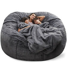 7ft Large Bean Bag Chair Comfy Microsuede Sofa Living Room Furniture Foam Giant