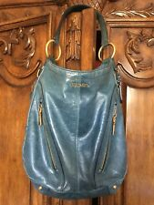 Light Blue Prada Bag with Gold Shoulder Strap 10inches deep 7inches wide 50% off