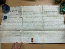 HUGE 3 AUG 1832 2-PAGE MORTGAGE VELLUM INDENTURE - HANBURY (WORCESTER) (LL)
