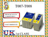 2 ink cartridges for Epson Stylus Photo Printers t007 t008 non original