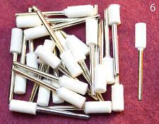 25 pcs Thin Barrel Felt Wool Polishing 1/8 shank Bits Dremel's or Rotary Tools