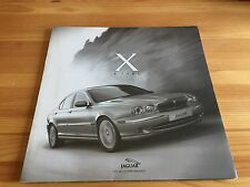 Jaguar X Type Launch Glossy PR Photos Sales Brochure, Rare Collectors Item