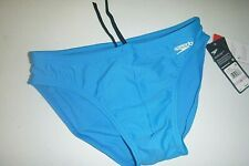 speedo mens activewear power flex compression beach swim briefs sz: W32 -blue