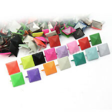 100x Metal Pyramid Studs Punk Rock DIY Leathercraft Clothes Shoes Bags Accessory
