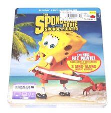The Spongebob Movie Sponge Out of Water STEELBOOK (Blu-ray/DVD, USA) Hastings